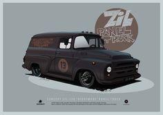 """ArtStation - ZIL-130 """"Nightmare"""" panel truck concept, Andrey Tkachenko"""