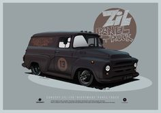 "ArtStation - ZIL-130 ""Nightmare"" panel truck concept, Andrey Tkachenko ★ Find more at http://www.pinterest.com/competing/"