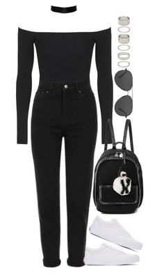 """Sem título #1261"" by oh-its-anna ❤ liked on Polyvore featuring Topshop, Vans, STELLA McCARTNEY, Michael Kors, Fendi and Forever 21"