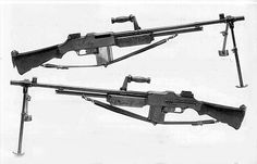 The Browning Automatic Rifle, BAR, the original squad automatic weapon. The M1918A2 Browning Automatic Rifle (BAR) was the WWII version of the M1918 BAR, used at the end of WWI. The overall finish was parkerised. It had a selector switch to select 2 rates of fire: 500 or 200 rpm., but it didn't have a single-shot mode. The 20-round magazine could hold 20 standard caliber .30-06 rounds.