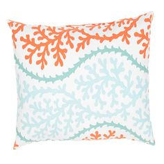 Veranda Coral 18 Inch Decorative Pillow Indoor/Outdoor Pillows Throw Pillows Bedding