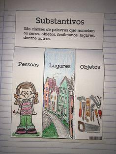SOS PROFESSOR-ATIVIDADES: Substantivos Spanish Language, Language Arts, Blended Learning, Interactive Notebooks, Sos Professor, Teacher, Writing, Reading, Homeschool