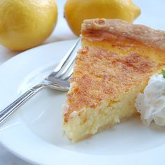 Best Buttermilk Pie...a must try.  Your life will never be the same.