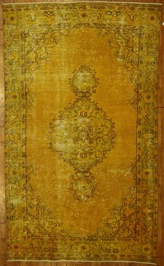 Gold Overdyed Rug by bazaarbayar on Etsy