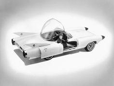 "polymath42: "" The sleek and futuristic Cadillac Cyclone concept car designed by Harley Earl in 1959 """