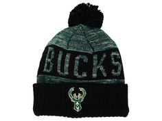 7fe0aced97095 Milwaukee Bucks Mitchell and Ness NBA Team Color Jacquard Stripe Pom Knit  Hats Knit Hats