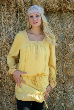Mustard Yellow Drop Waist Vintage Rope Dress #nanamacs.com #nanamacs_boutique