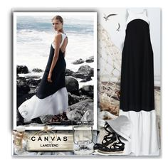 """""""Paint Your Look With Canvas by Lands' End: Contest Entry"""" by oleahg ❤ liked on Polyvore featuring Canvas by Lands' End and Lands' End"""
