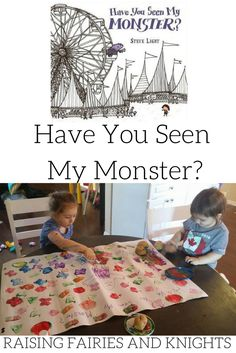 Have You Seen My Monster - The Monthly Crafting Book Club for November is covering Have You Seen My Monster, a great book to reinforce colours & teach shapes to kids.