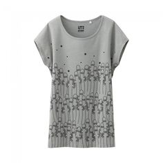 4e302c94f Uniqlo x Moomin French Sleeve T-Shirt - Ghosts (Gray) Uniqlo, Everyday