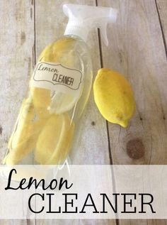 Tired of the smell of vinegar but love the cleaning power? Try this easy to make lemon vinegar cleaner. It smells like lemons and will do a great job of cleaning. This lemon cleaner is amazing! Household Cleaning Tips, Homemade Cleaning Products, Deep Cleaning Tips, Cleaning Recipes, House Cleaning Tips, Green Cleaning, Natural Cleaning Products, Cleaning Solutions, Spring Cleaning