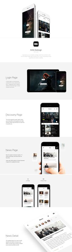 IMDb Mobile App Redesign on Behance