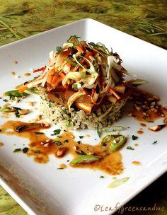 Thai Braised Tofu with Spicy Peanut-Tamarind Sauce by Chef Tanya, Leafygreensandme.com, via Flickr