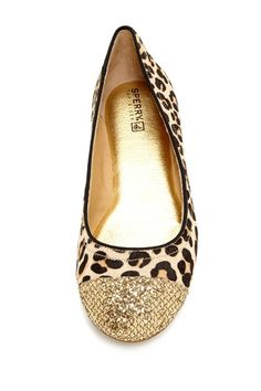 Sperry Top-Sider Annabelle Pony Hair Glitter Cap Toe Flat on HauteLook