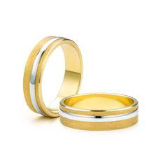 SAVICKI - Obrączki ślubne: Obrączki z dwukolorowego złota (Nr 48) - Biżuteria od 1976 r.