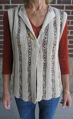 One Piece Sideways Vest - Easy Knitting Pattern - Knit Vest Pattern, One Piece, Easy Knitting Patterns, Free Knitting, Knitting Needles, Crochet Clothes, Dress Patterns, Knit Crochet, Crochet Vests