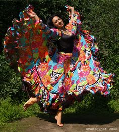Dancing barefooted, Gypsy girl