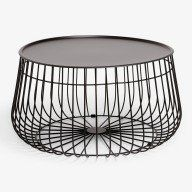 Black Wire Storage Coffee Table