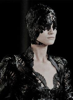 Kasia Struss at Alexander McQueen Spring 2012
