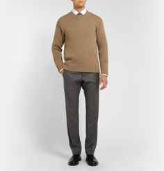 Dolce & Gabbana - Crew Neck Camel Sweater|MR PORTER