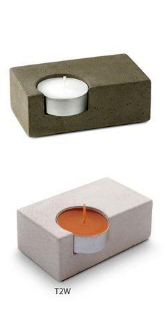 ...........................clev...nice lines............... Single Concrete Tea-Light Candleholder