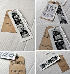 Polaroid and Newspaper cutting invitations