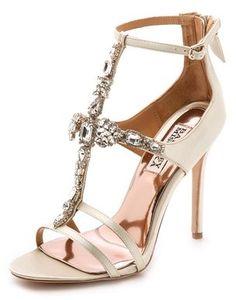 Badgley Mischka Giovana T Strap Sandals