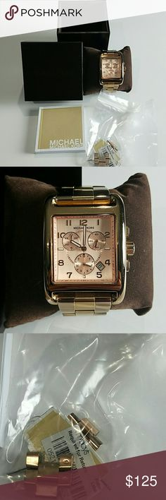 Michael Kors Watch in Rose Gold Slightly worn MK watch in Rose Gold. In excellent condition. Extra links included. Comes in box. Needs new battery. Michael Kors Accessories Watches