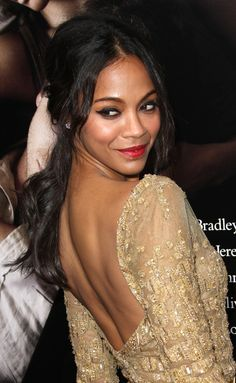"""""""I like missionary and I like being on my knees too,"""" Zoe Saldana told Marie Claire. """"And I love being on top ... I love doggy-style or standing up."""""""