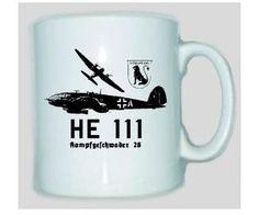 Tasse HE 111 - Kampfgeschwader 26 / mehr Infos auf: www.Guntia-Militaria-Shop.de