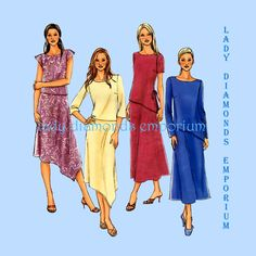 Butterick Best Seller Sewing Pattern P401 Womens Pullover Tunic Tops & A-line Skirts size 14 16 18 Easy Plus Size B4046 4046 Uncut FF by ladydiamond46 on Etsy