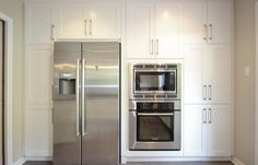 Filling a wall with cabinetry can give your kitchen that sleek style you've been looking for. #kitchen #cabinetry