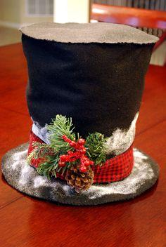 DIY frosty hat decoration