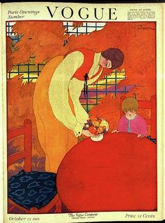 Vogue Cover October 15, 1918 ~ Georges Lepape