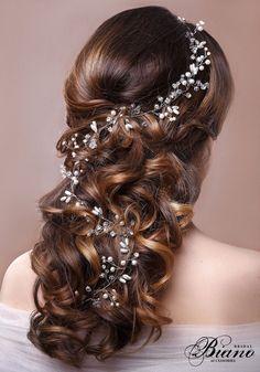 SALE Bridal Hair Vine Wedding Tiara Wedding Headband by Bianoco