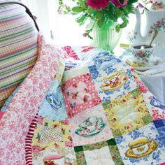 Tea Cozy: Quick Feminine Lap Quilt Pattern