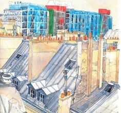 From the Rooftops of Paris (Sketchbooks), by Fabrice Moireau