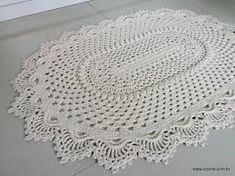 Resultado de imagem para receita tapete croche oval para sala passo a passo