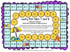 Subtraction Board Games With Sea Friends is a set of 27 printable subtraction games from Games 4 Learning. Kids will LOVE math with these subtraction math board games! $