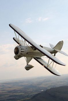 WACO Bi-Plane in Flight, a beautiful bird.