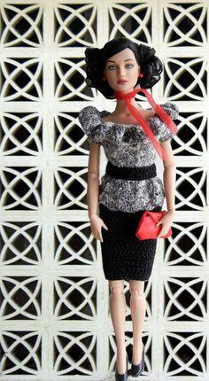 Crochet pattern PDF for 16inch fashion doll by PrincessOfCrochet