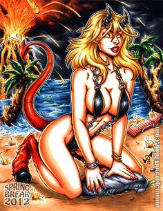 Spring Break Demon Magik commission by gb2k on DeviantArt