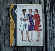 McCall 3144 1970s 70s Asymmetrical Dress Pants Vintage Sewing Pattern Size 12 Bust 34