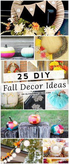 25 DIY Fall Decor Ideas #DIY #fall #decor