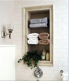 Pour mettre en valeur le placard de la salle de bains