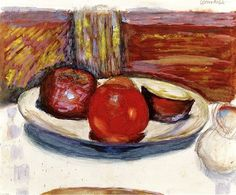 The Plate of Apples / Pierre Bonnard - circa 1926