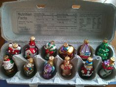 keep ornaments in egg cartons.