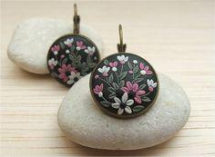 Valentines Day Gift Flower Jewelry Flower Polymer por Floraljewel, $33.00