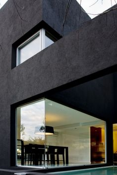 Black house. Glass Wall #architecture, #walls, #bestofpinterest, https://facebook.com/apps/application.php?id=106186096099420