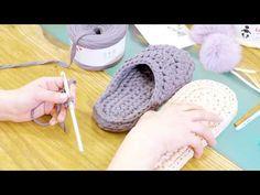Crochet Slippers – Footwear Tutorial - Design Peak - Her Crochet Easy Crochet Slippers, Crochet Slipper Pattern, Crochet Boots, Crochet Baby, Knit Crochet, Crochet Patterns, Crochet T Shirts, Crochet Clothes, Knit Shoes